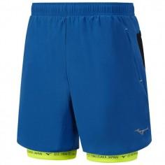 Pantalón corto Mizuno Mujin Square 7.5 2en1 hombre Azul