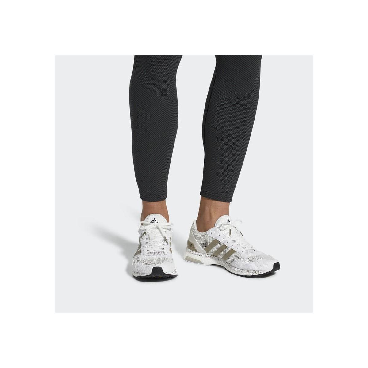 huge selection of 77ebc 013bd ... Adidas Adizero Adios 3 Boost blanco y metálico Hombre PV18
