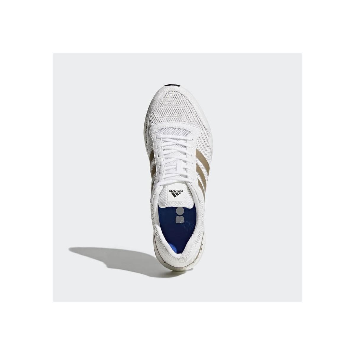 new concept 06169 6782c ... Adidas Adizero Adios 3 Boost blanco y metálico Hombre PV18 ...