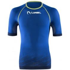 Camiseta running Lurbel Challenge Azul/Pistacho