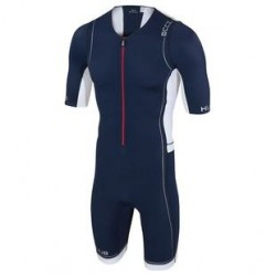 Tritraje HUUB core long course suit Azul/Blanco