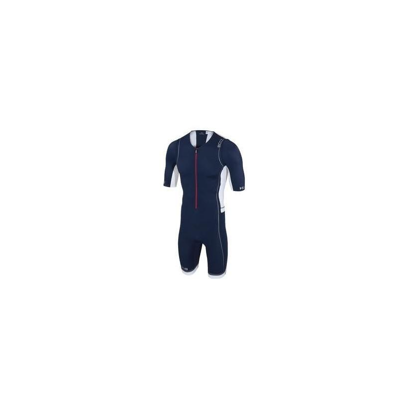 Tritraje HUUB core long course suit Azul/Blanco