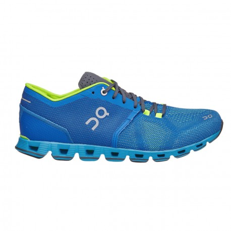 ON Cloud X Running Shoes Blue Water