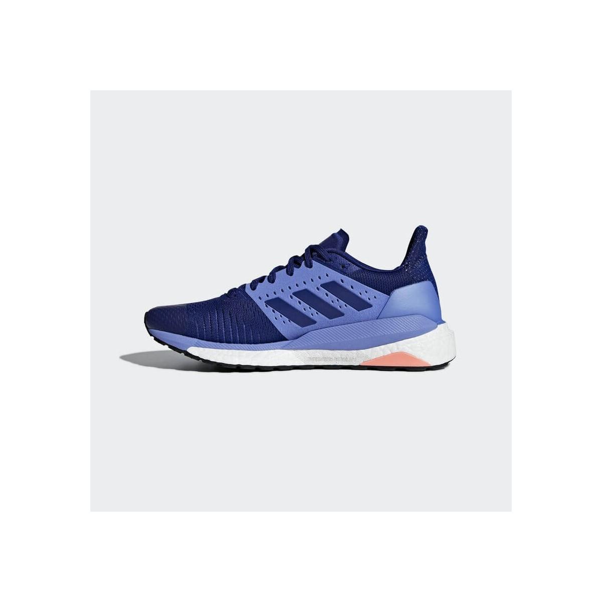 Zapatillas Adidas Solar Glide ST Lima Fluor Blanco Azul PV19 Mujer