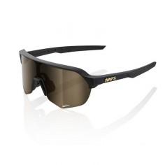 Glasses 100% S2 MATT BLACK (FLASH GOLD LENS)