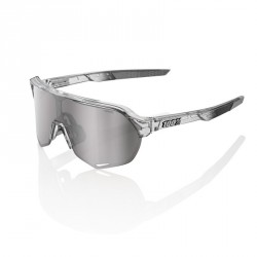 Gafas 100% S2 Cristal Gris Translúcido Pulido (LENTE ESPEJO PLATA HIPER)