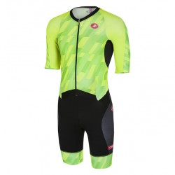 Castelli All Out Speed Suit - Triatlon Verde Negro