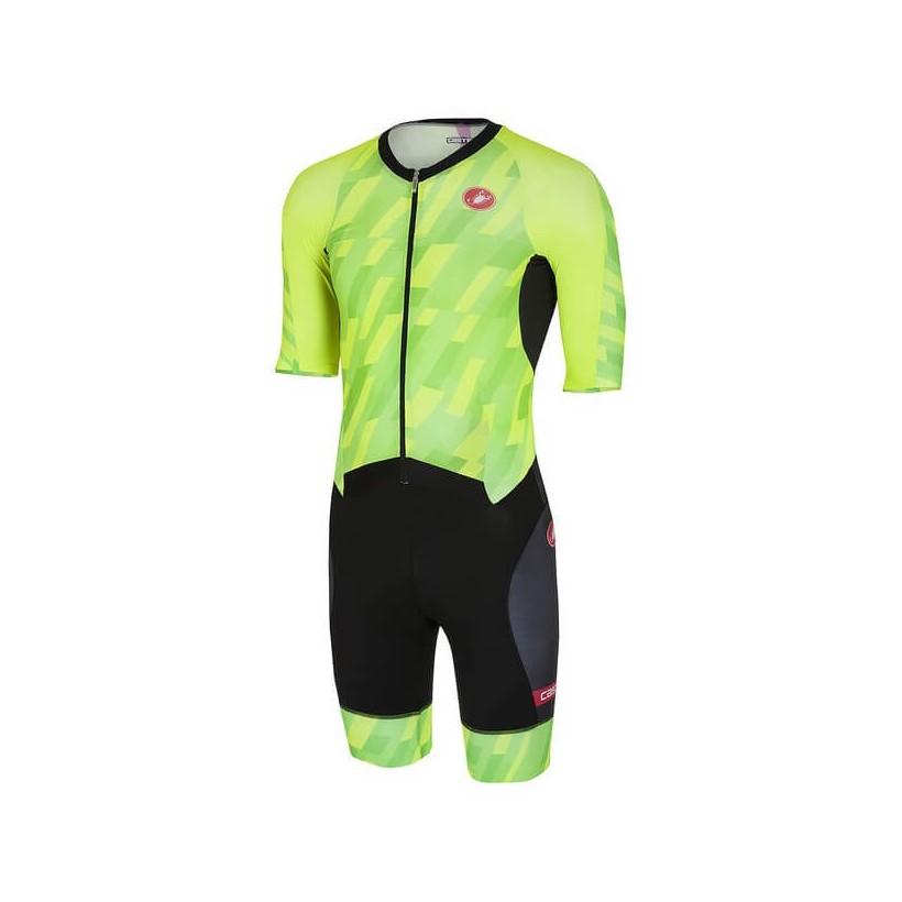 Castelli All Out Speed Suit - Triatlon Verde Negro
