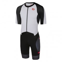 Castelli All Out Speed Suit - Triatlon Blanco Negro
