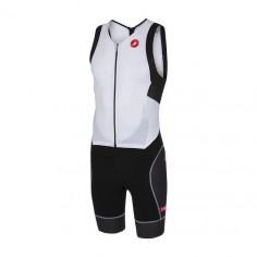 Castelli Integral San Remo sleeveless trisuit. Black White
