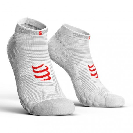 Calcetines cortos Compressport Pro Racing V3.0 Blanco