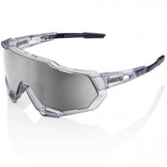Gafas 100% Speedtrap Gris translucido Lente Mirror hiper Silver