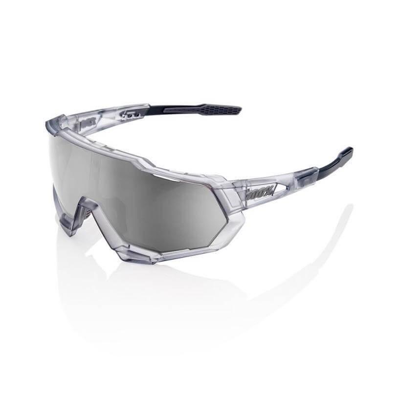 100% Speedtrap Gris translucido Lente Mirror hiper Silver