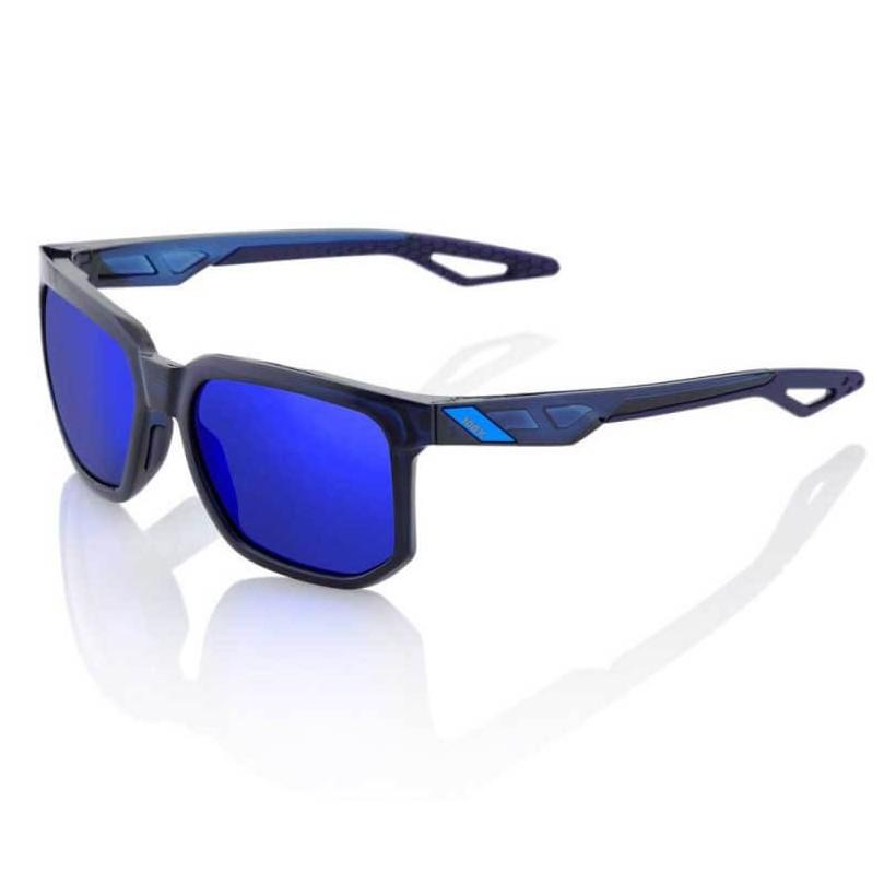 Gafas 100% Centric azul translucido con lente espejo azul electrico