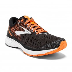 Brooks Ghost 11 Negro Naranja OI18