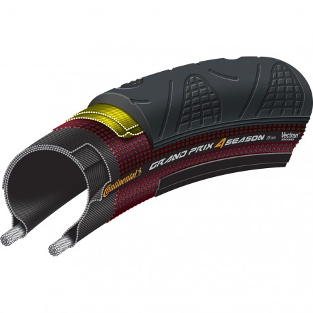 Cubierta plegable Continental - GP 4 Season 700x25mm negro