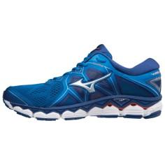 Zapatillas Mizuno Wave Sky 2 Azul, plata y cereza Hombre OI18