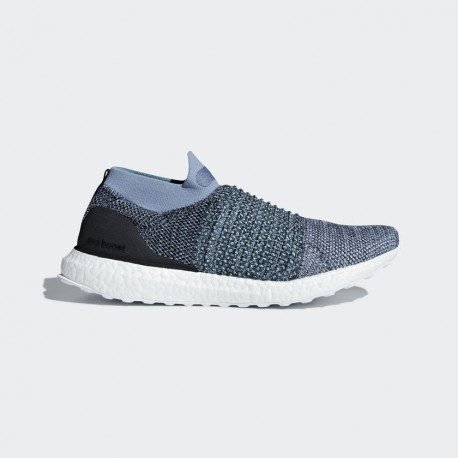 pretty nice fe3f0 8b84d Adidas Ultra Boost Laceless Parley Blue FW18 Man Running shoes