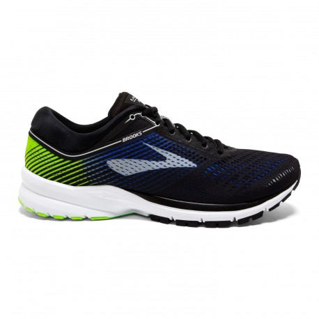 Brooks Men's Launch 5 BlueBlackLime Running Shoes