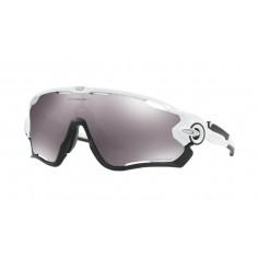 Gafas ciclismo Oakley Jawbreaker Polished White Lente Primz Black Iridium