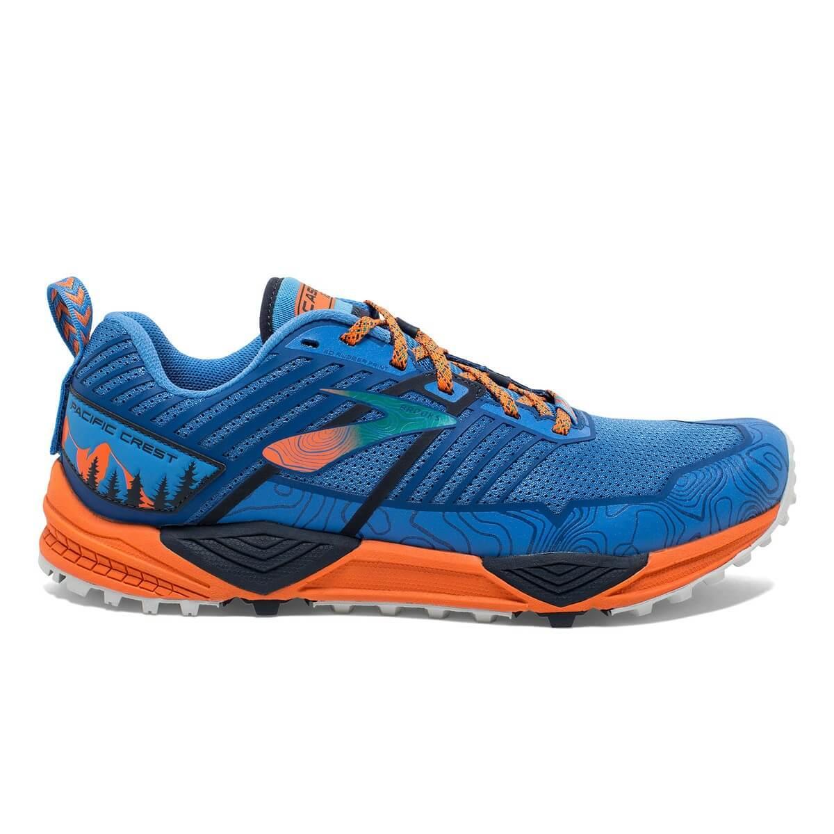 Orange Cascadia 13 running shoes