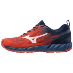 Zapatillas de Trail MIzuno Wave Ibuki OI18 Roja y Azul