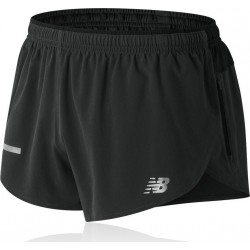 Pantalon Corto New Balance Impact Split 3in OI18 Negro