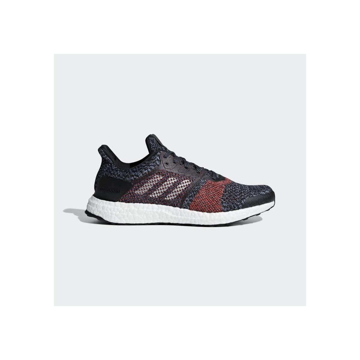 403718d60eaa3 Zapatillas Adidas Ultra Boost ST OI18 Azul Negro y Rojo Hombre ...