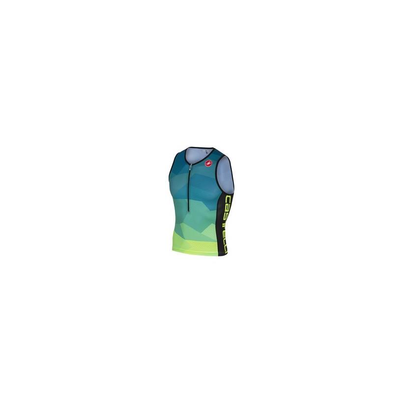 Top Castelli Core 2 Hombre Verde Azul PV18