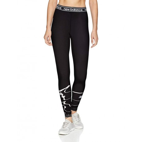 Mallas para mujer New Balance Accelerate Tight Negras y Blanco OI18