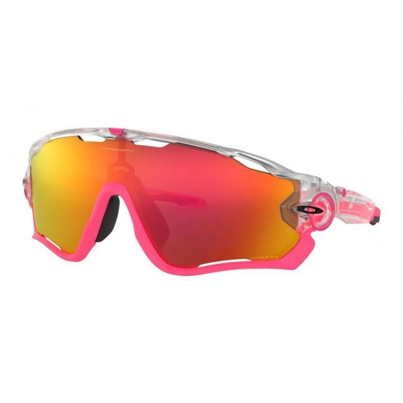mejor servicio 893d4 c81fc Gafas Ciclismo Oakley Jawbreaker Crystal Pop Lente Prizm Ruby