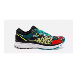 Brooks Ghost 11 Negro Verde Pop Art NYC OI18 Hombre