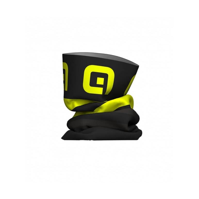 Braga-Gorro Alé tubular negro/amarillo flúor OI15