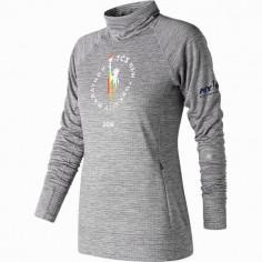 Camiseta de Manga Larga New Balance Heat Po New York Marathon Gris Mujer OI18