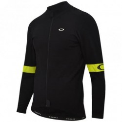 Maillot Oakley Thermal Negro-Amarillo Manga Larga