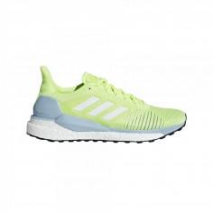 Zapatillas Adidas Solar Glide ST Lima Fluo Blanco Azul PV19 Mujer