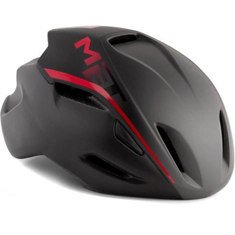 Casco aero Met Manta Negro Rojo