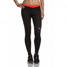 Mallas Adidas mujer negro rojo larga