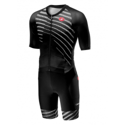 Tritraje Castelli All Out Speed Suit hombre negro blanco
