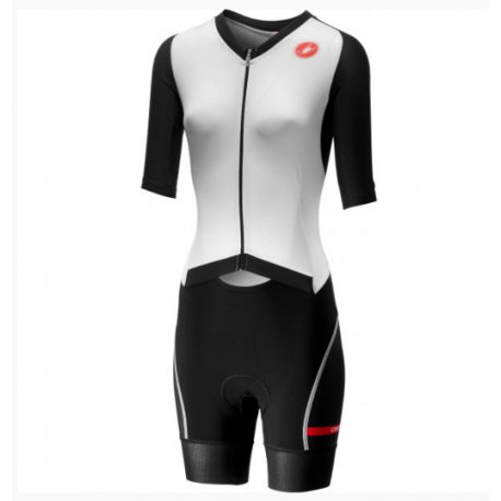 Traje Castelli Integral All Out Mujer Blanco Negro