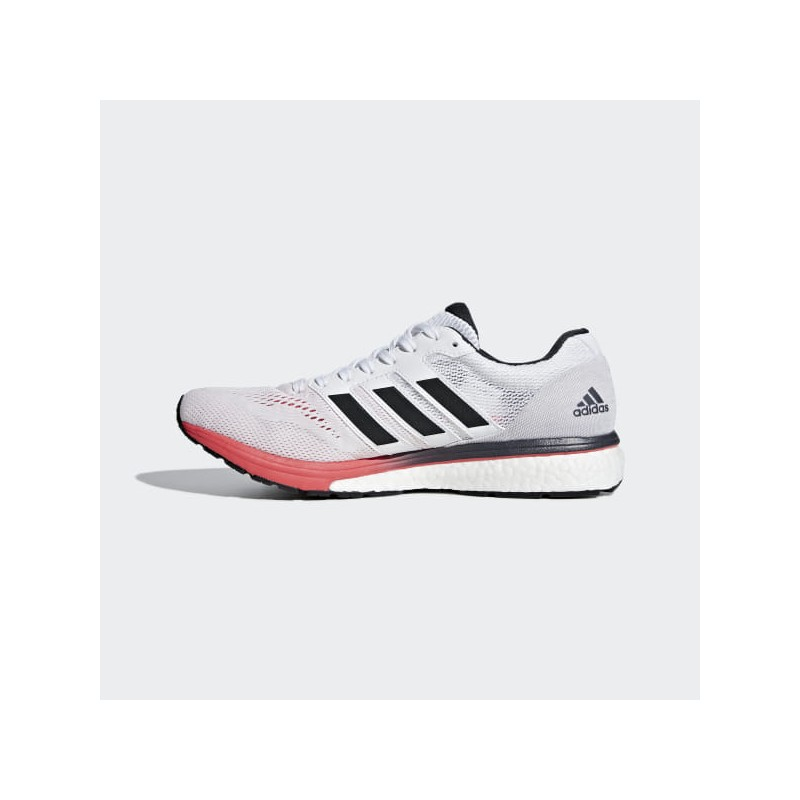 Empotrar collar Pino  Adidas Adizero Boston 7 White / Red PV19 Mens