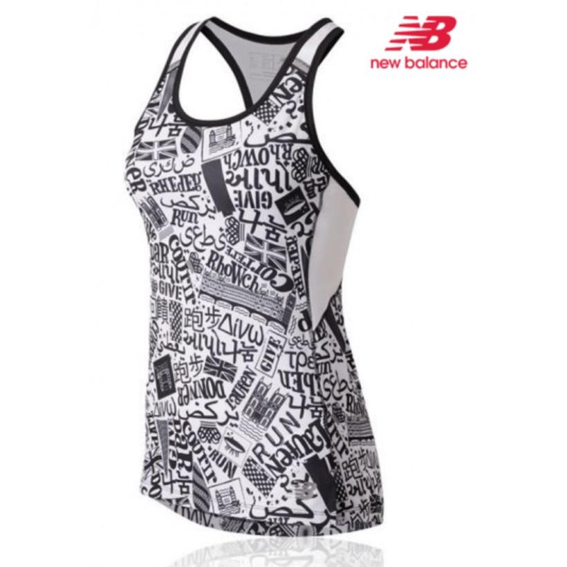 Camiseta New Balance Ice 2.0 Sin Mangas Mujer Maratón Londres