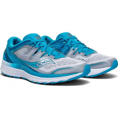 Saucony Guide Iso 2 Azul blanco Mujer