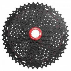 SunRace MX9X Casette, 11-speed, 10-46 Metallico Black