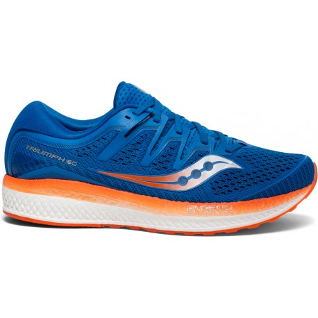 separation shoes 4a0f5 02cdd Saucony Triumph ISO 5 Men's Running Shoes Blue Orange