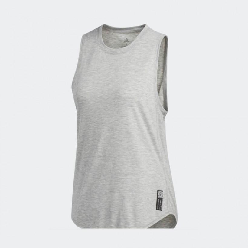 Camiseta Running Adidas Adapt to Chaos Gris Mujer