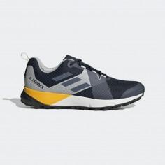 Zapatillas Trail Adidas Terrex Two Azul Gris Amarillo OI19 Hombre