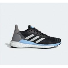 Zapatillas Adidas Solar glide 19 Negro Gris Celeste OI19 Mujer