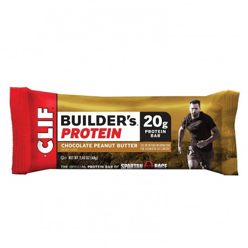 Barrita energética Clif Bar - Barritas de proteina Builders Chocolate Peanut Butter - unidad