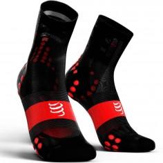 ProRacing V3 Ultra Light Compressport Socks Black Red